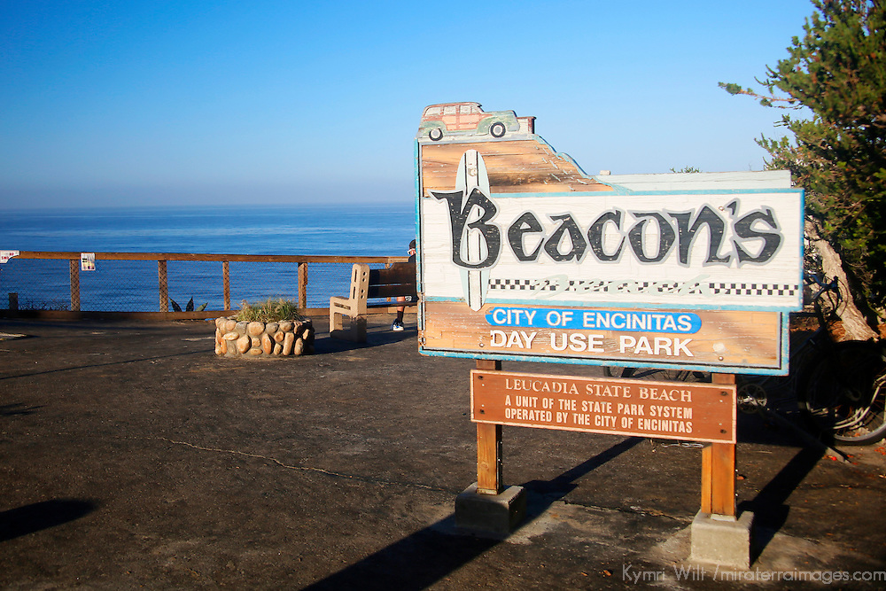 USA, California, Encinitas. Beacon's Beach Park, Leucadia (Encinitas)
