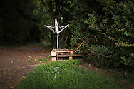 An abandoned music stand in the grounds of Grange Park in Hampshire. The Grange Festival will have its inaugural season in June, 2017 after parting with its previous tenants, Grange Park Opera, who enjoyed 16 years at the award winning theatre. <br /> Picture date: Thursday October 20, 2016.<br /> Photograph by Christopher Ison &copy;<br /> 07544044177<br /> chris@christopherison.com<br /> www.christopherison.com
