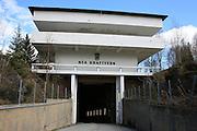 Entrance, Nea powerplant, Norway. Inngangspartiet, Nea kraftverk i Tydal.