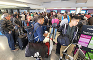 Holiday travelers arrive at LAX