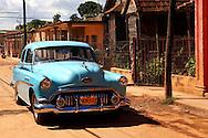 Old American car in Alquizar, Artemisa Province, Cuba.