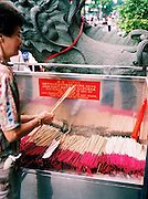 incense sticks at the Goddess of Mercy temple