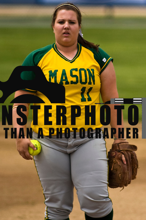 05/07/2010 Newark DE: George Mason Softball Pitcher Miranda Cranford #11 during a softball game at Delaware.<br /> <br /> George Mason Softball Sweeps Doubleheader From Blue Hens, 5-0 and 5-4, In game one The Fighten Blue Hens defense couldn't keep up with George Mason. However George Mason defense was magnificent helping to blank the blue hens 5-0.