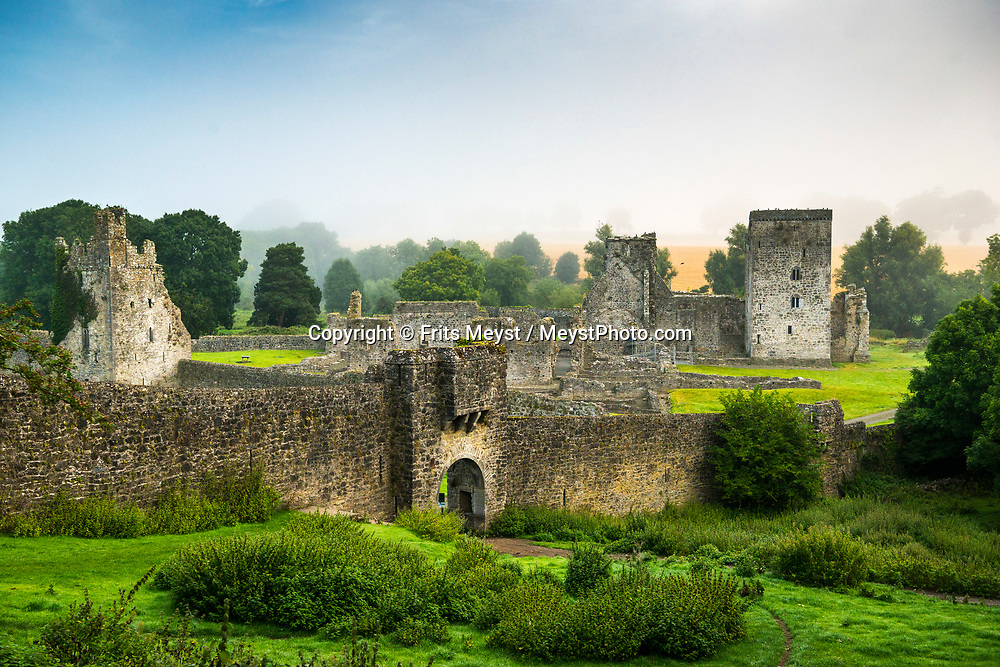 Kells, Kilkenny, Southern Ireland, August 2016.  Kells Priory is one of the largest and most impressive medieval monuments in Ireland. The Augustine priory is situated alongside King's River beside the village of Kells, about 15 km south of the medieval city of Kilkenny. A coastal road trip from Kilkenny to Cork via Wexford and Waterford.  Photo by Frits Meyst / MeystPhoto.com