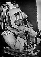 Welsh F1 driver Tom Pryce uses a break in practice for the 1975 United States Grand Prix to mentally &ldquo;search for time&rdquo; in the UOP Shadow. <br />