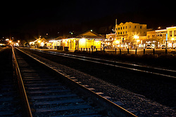 """Downtown Truckee Tracks 2""- These railroad tracks were photographed in Downtown Truckee, in the early morning."