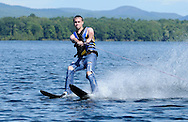 A man water skis on Lake George in Cleverdale, NY, on Wednesday, September 4, 2013.