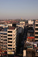 Skyline of the city of Yangon, in Burma.<br />