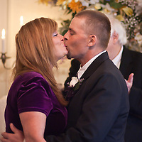 11/11/11 Elkton MD: William M. Stevens and Susan M. Stevens of New Castle Delaware kiss during their wedding ceremony Friday, Nov. 11, 2011 at Elkton Wedding Chapel in Elkton Maryland.<br /> <br /> Special to The News Journal/SAQUAN STIMPSON