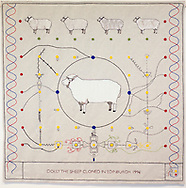 Great Tapestry of Scotland complete Panel<br /> Dolly the Sheep cloned in Edinburgh 1996 - Panel Number 154<br /> <br /> Copyright Alex Hewitt<br /> 07789 871 540<br /> <br /> Reproduction fees payable to Alex Hewitt