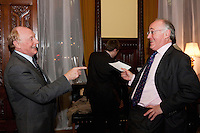 Neil Kinnock jousts with Michael Howard during the House of Commons Opposition Studies Forum, March 2009