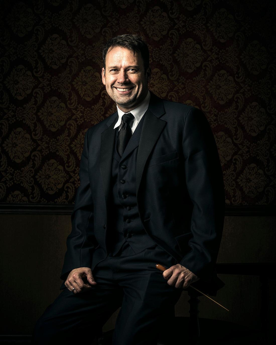 Robert Moody Music Director of Winston-Salem Symphony, Portland Symphony Orchestra, Artistic Director of Arizona Musicfest. — © Jeremy Lock/