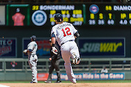 Chris Herrmann #12 of the Minnesota Twins rounds the bases after hitting his first career home run against the Seattle Mariners on June 2, 2013 at Target Field in Minneapolis, Minnesota.  The Twins defeated the Mariners 10 to 0.  Photo: Ben Krause