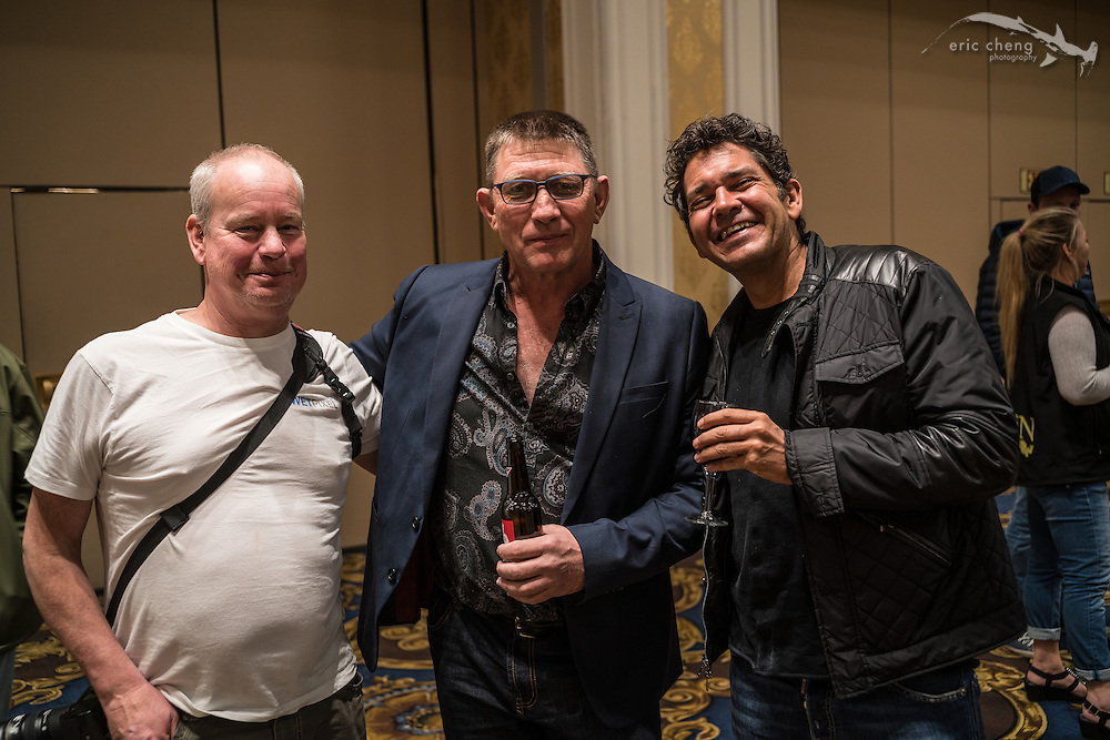 Adam Hanlon, Peter Mooney, Alberto Reija (DEMA 2016, Las Vegas)