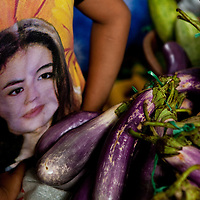 eggplant sold in Rantepao market, Sulawesi, Indonesia