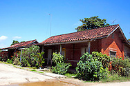 Houses in Jesus Menendez, Las Tunas, Cuba.