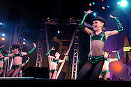 Dancers from the Stagedoor Dance Academy perform at the New York Dance Alliance's national competition finale July 10, 2005 in New York City. <br />