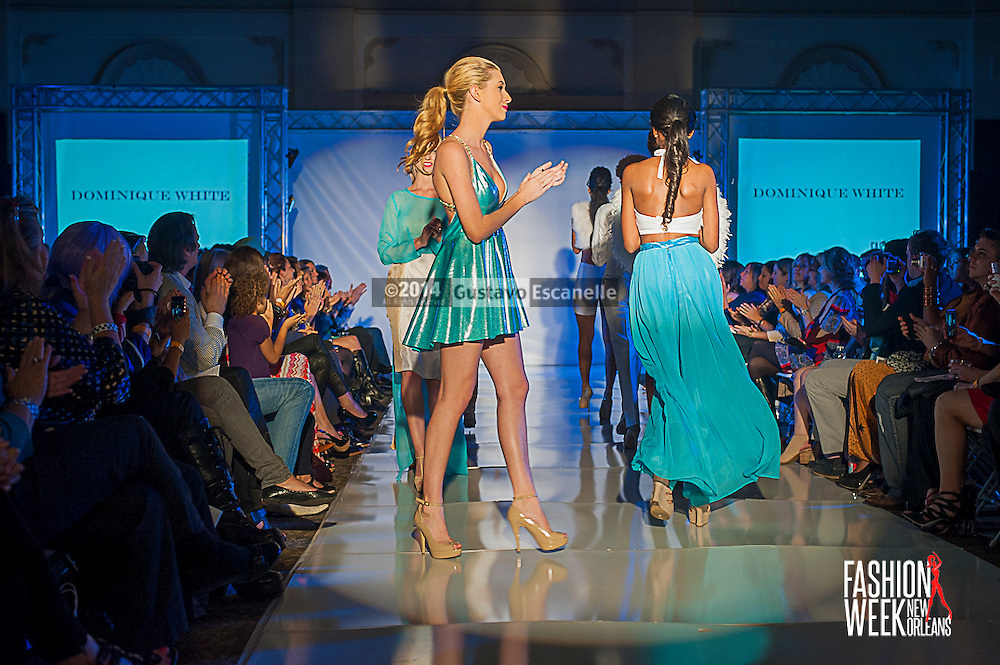 FASHION WEEK NEW ORLEANS: Designer Dominique White show case her fashion design on the runway at the Board of Trade, Fashion Week New Orleans on Wednesday March 19. 2014. #FWNOLA, #FashionWeekNOLA, #Design #FashionWeekNewOrleans, #NOLA, #Fashion #BoardofTrade, #GustavoEscanelle, #TraceeDundas #DominiqueWhite<br /> View more photos at http://Gustavo.photoshelter.com.