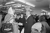 1965 - Stork Girl at the opening of Powers Supermarket, Ballyfermot