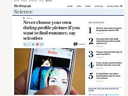 The Telegraph; Tinder dating app