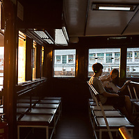 Interior of the Star Ferry. Hong Kong