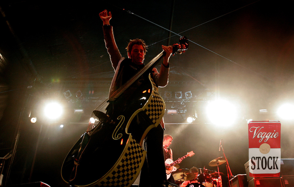Australian punk band the Living End perform at the Great Escape music festival in Sydney, Sunday, April 8, 2007. The festival is in its second year and runs over the Easter long weekend. (AAP Image/Megan Young) NO ARCHIVING