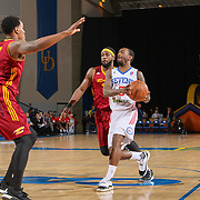 Delaware 87ers Guard RUSS SMITH (5) drives the lane in the first half of a NBA D-league regular season basketball game between the Delaware 87ers and the Canton Charge Tuesday, JAN, 26, 2016 at The Bob Carpenter Sports Convocation Center in Newark, DEL.