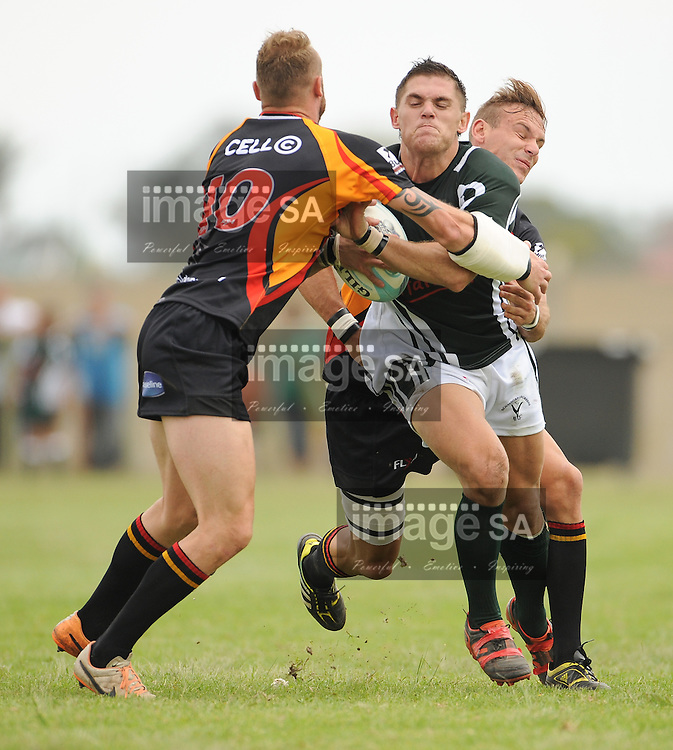 GEORGE, SOUTH AFRICA - Saturday 7 March 2015, Johannes Lambrechts of Pacaltsdorp Evergreens during the third round match of the Cell C Community Cup between Pacaltsdorp Evergreens and Vaseline Wanderers at Pacaltsdorp Sports Grounds, George<br /> Photo by Roger Sedres/ImageSA/ SARU