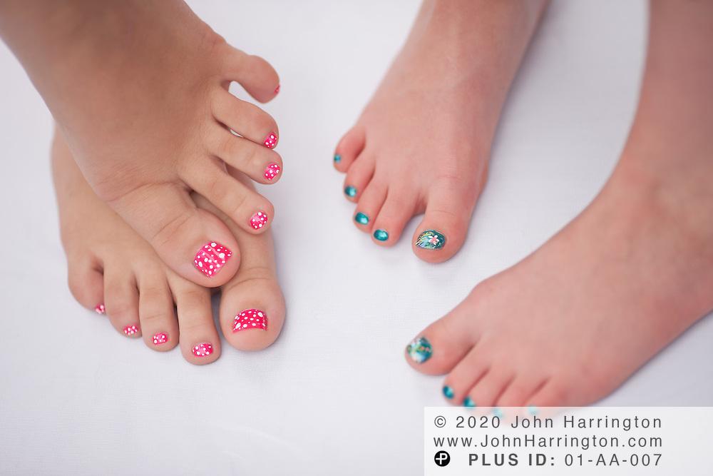 Studio shots of a young girls manicure and pedicure.   John Harrington