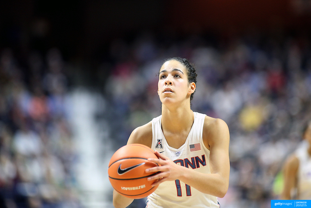 UNCASVILLE, CONNECTICUT- DECEMBER 4: Kia Nurse #11 of the Connecticut Huskies in action during the UConn Huskies Vs Texas Longhorns, NCAA Women's Basketball game in the Jimmy V Classic on December 4th, 2016 at the Mohegan Sun Arena, Uncasville, Connecticut. (Photo by Tim Clayton/Corbis via Getty Images)