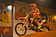 X-Knights, first event of the 2009 freestyle FMX International Cup at Figali Convention Center.Pictured: Spanish rider, Dany Torres, three times winner of the X-Knights competition.