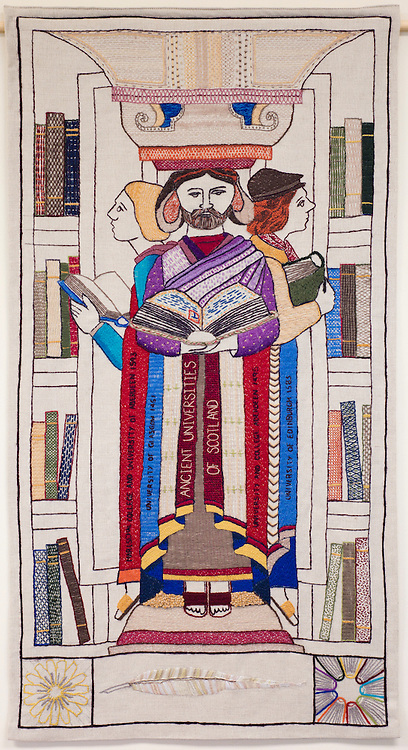 Great Tapestry of Scotland complete Panel<br /> Ancient Universities - Panel Number 34<br /> <br /> Copyright Alex Hewitt<br /> 07789 871 540<br /> <br /> Reproduction fees payable to Alex Hewitt