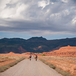 Starting in the red desert of the valley, the route climbs to the Chuska Mountains above.