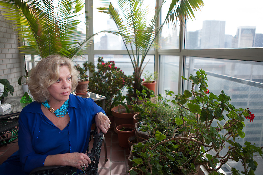 New York, NY - October 03, 2013 : Author Erica Jong at her apartment in New York, NY on October 03, 2013. Fear of Flying, celebrating its 40th anniversary, is a 1973 novel by Erica Jong, which became famously controversial for its attitudes towards female sexuality, and figured in the development of second-wave feminism. (Photo by Melanie Burford/Prime for The Washington Post)
