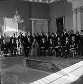 1962 - Diplomatic Corps. received by President de Valera.   C12.