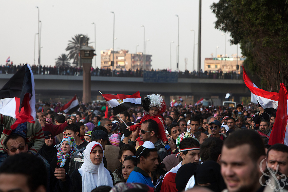 Egyptians continue to celebrate in Tahrir Square February 12, 2011 in Cairo, Egypt. The day after the revolution toppled the regime of President Hosni Mubarak, Egyptians continued to celebrate and began to focus on rebuilding their country and society.  (Photo by Scott Nelson)