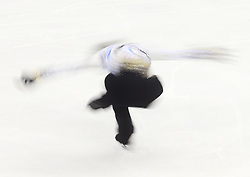Yuzuru Hanyu of Japan performs during the Men free skating program at the ISU World Figure Skating Championships at Shanghai Oriental Sports Center in Shanghai, China, 28 March 2015.