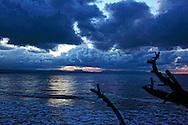 Sunset in Yumuri, Guantanamo, Cuba looking towards El Yunque (The Anvil) in Baracoa.
