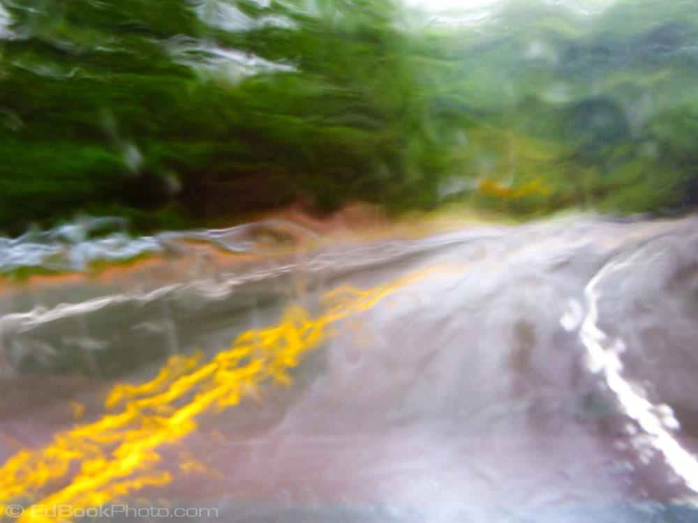 rain on the windshield (motion blur and rain blur)