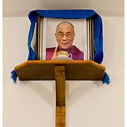 Shrine to His Holiness The Dalai Lama. Macleod Gang. Himashal Pradesh, India.