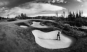 Golfer out of Sand Trap