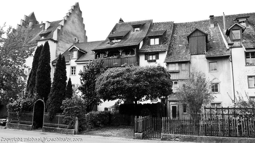 Part of the old city of Stein am Rhein, near Schaffhausen, Switzerland