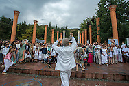 Damanhur is a commune, ecovillage, and spiritual community founded in 1975 in the northern Italy. <br /> The Federation it&rsquo;s born under the inspiration of Oberto Airaudi, that in August of 1978, at the age of 24, began building a massive underground temple.<br /> Airaudi chose to keep the project a secret from the government, but he involved others who he felt understood his vision. It begun as a group of about 24, and than this number has grown to 800 by the years, which enlightened and pragmatic vision created a fertile reality based on solidarity, sharing, love, and respect for the environment.<br /> The Italian police showed up 14 years after secret construction was begun, demanding to see the temple. When they were taken down into the massive and intricately decorated complex they were stunned. The underground temple spreads over 8,500 cubic metres on five different levels, connected to one another by hundreds of metres of corridors.<br /> The Temples of Humankind symbolically represent the inner rooms inside every human being are, therefore they are a massive collection of subterranean temples, buried 100&nbsp;ft underground, built and decorated in several motifs and entirely in secret by a group of non-architects.<br /> Respect for the environment is one of the foundations of the Damanhurian thought. Damanhurians cultivate organic food and livestock, restructure and build according to green building principles, have design and installation companies in the field of renewable energy and prefer natural healing methods and a holistic view of medicine.This is an example of a collective dream transformed into reality thanks to the creative power of positive thought. <br /> Every year Damanhur welcomes thousands of visitors from all over the world to experience the social model, study the philosophy and to meditate in the Temples of Humankind which many have called the &lsquo;Eighth wonder of the world&rsquo;.