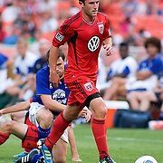 DC United Midfielder Stephen King #20 retains procession of the ball during the MLS International friendly match between Everton FC of England and DC United...Everton FC Defeated DC United 3-1 Saturday, July 23, 2011, at  RFK Stadium in Washington DC.