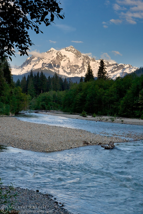 Mount Shuksan and the Nooksack River in the North Cascades, Washington State, USA