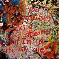 You may say that I'm a dreamer but I'm not the only one. Lennon in Prague