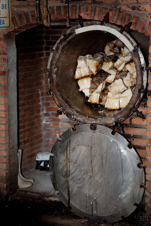 """""""Making Tequila""""- Part of the tequila making process, photographed at a distillery near Puerto Vallarta, Mexico."""