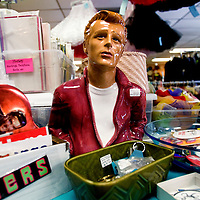 TAMPA, FL -- March 6, 2010 -- A ceramic James Dean peers from the counter at Sherry's YesterDAZE in Tampa, Fla., on Saturday, March 6, 2010.  Tampa and the surrounding area has become a hub for vintage clothing, furniture, and trinkets.