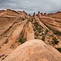 The primitive trail in the Devil's Garden section of Arches National Park near Moab, Utah.