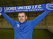 14-02-2013- Lochee United new boy Bryan Deasley
